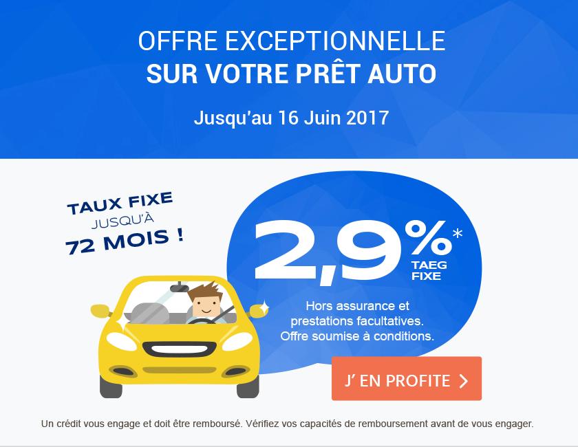 Financement auto 2,9%